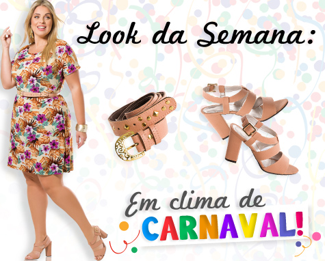 Look da Semana: Vestido Mix Estampa Florais.