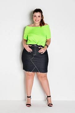 Blusa Ciganinha Verde Neon